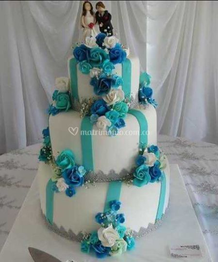 marine blue wedding cakes sugar by nata salgado 17130