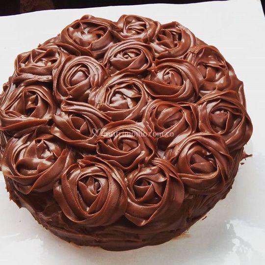 Torta con ganache de chocolate