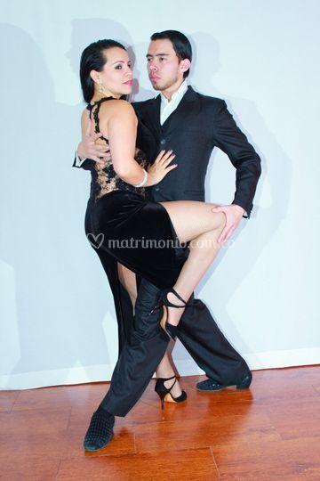 Pareja de tango profesional