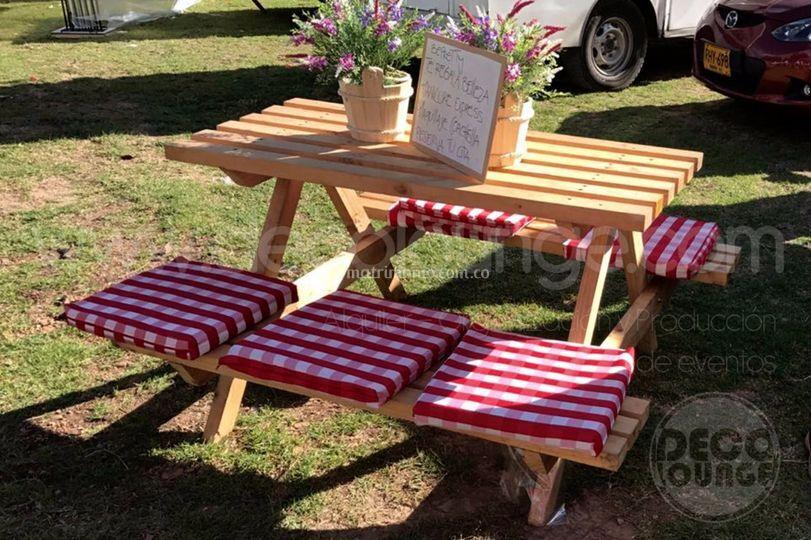 Mesas tipo picnic