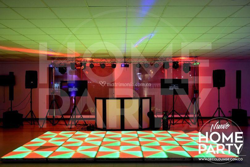 Pistas de baile en evento