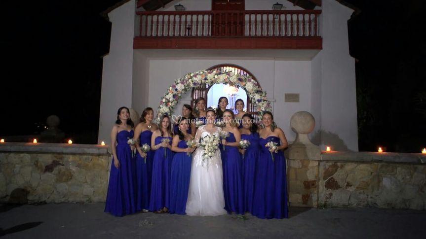 Azul en la iglesia