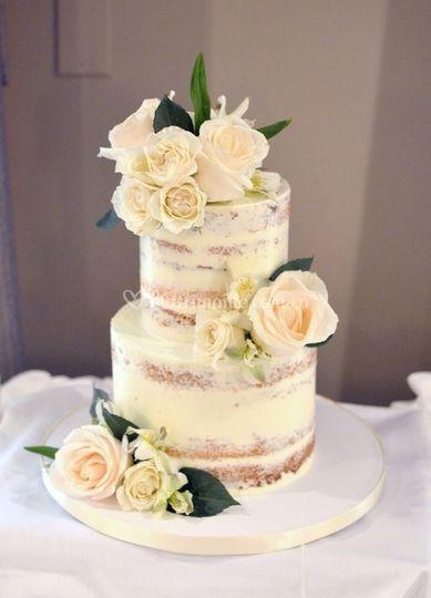 Torta para bodas semi naked