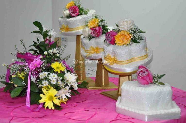 Decoración mesa del pastel