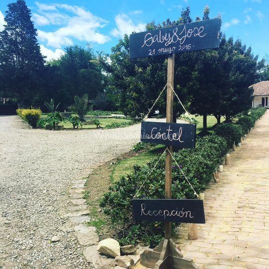 Jardines y recibimiento