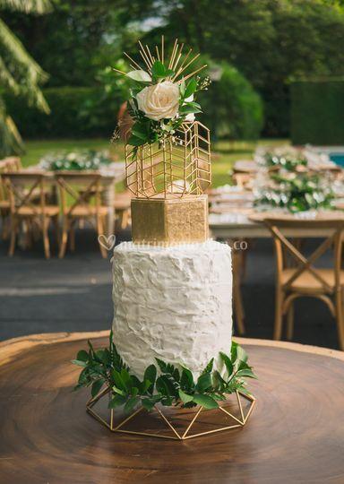 Torta rústica y elegante