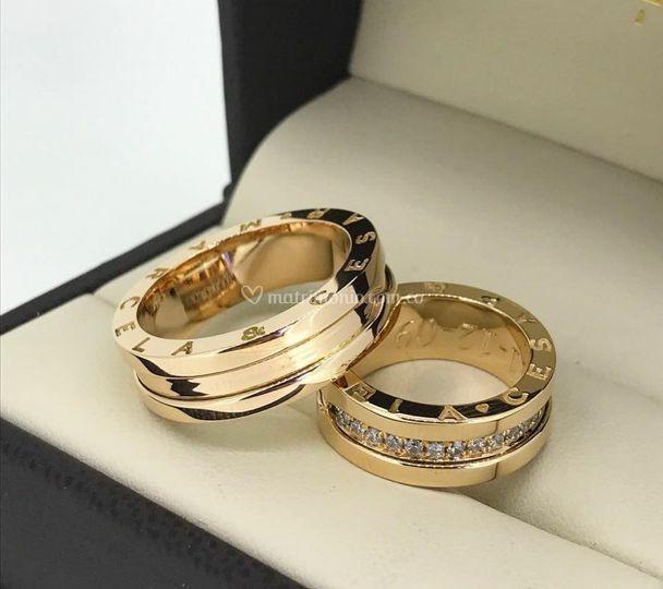 Argollas oro rosa y diamante