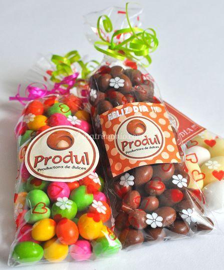Chocolates en bolsas