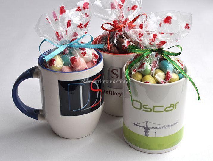 Mugs con chocolates