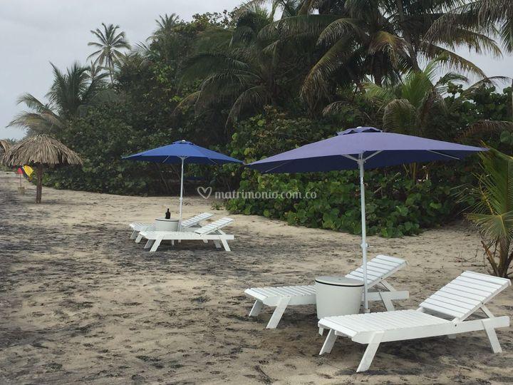 Descanso orilla de la playa