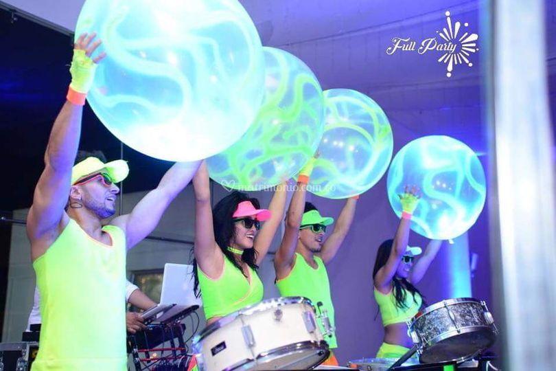 Balones de neón