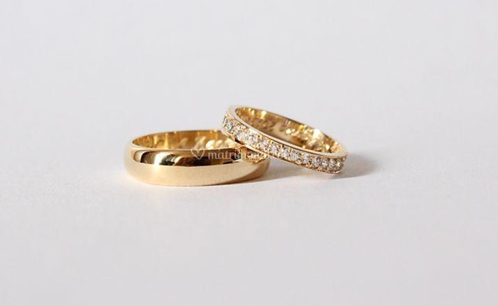 Argollas Oro 18k con Diamantes