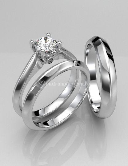 Set Anillos de Matrimonio AJM-