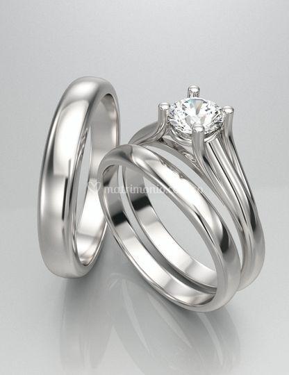 Set Anillos Matrimonio AJM-58