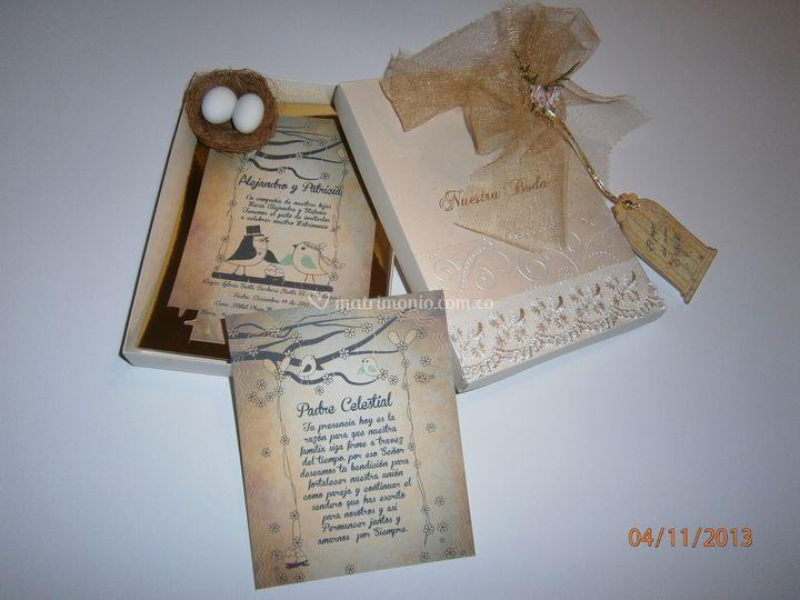 Tarjeta para boda vintage