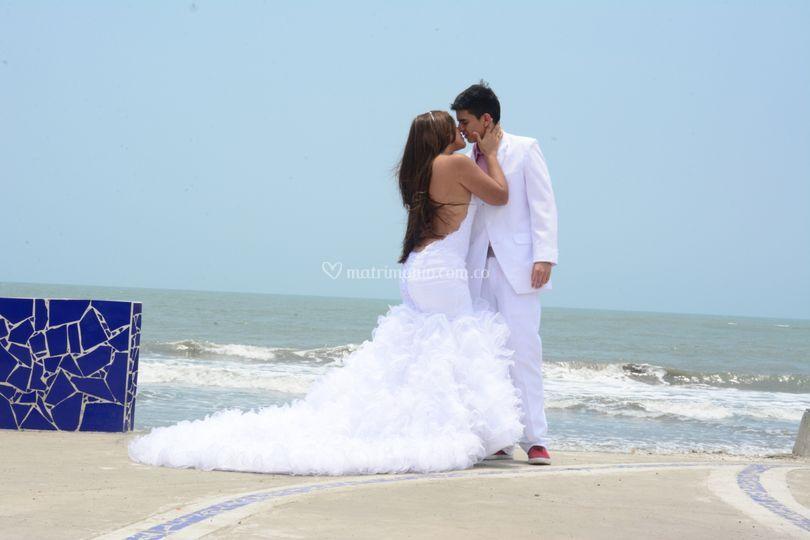 Matrimonio Catolico En La Playa Colombia : Playa cartagena colombia de alta costura peniche foto