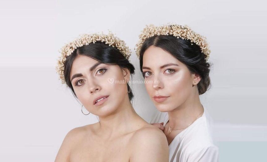 Coronas en flores preservadas