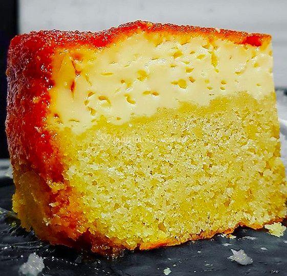 Flan-torta corteza caramelo