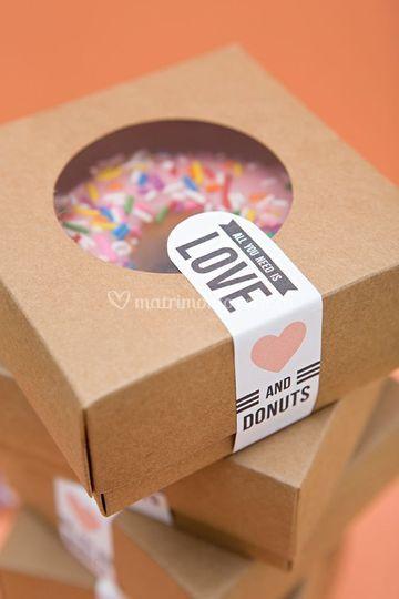 Caja mini donut