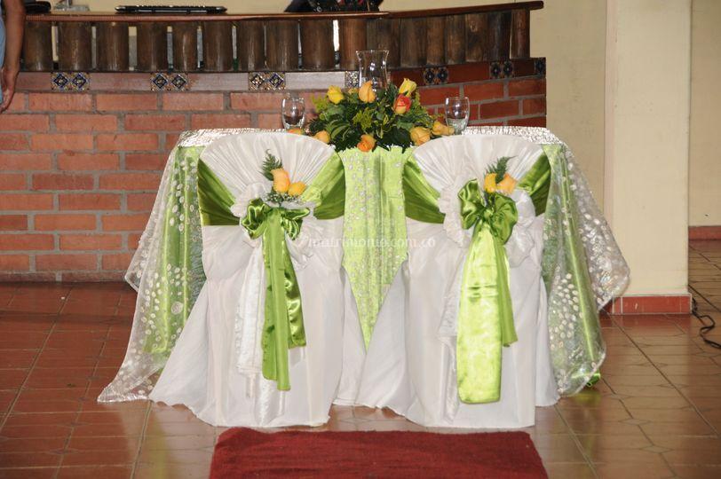 Mesa para ceremonia