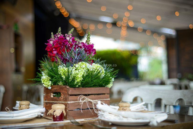 Variedad de Flores en cajas