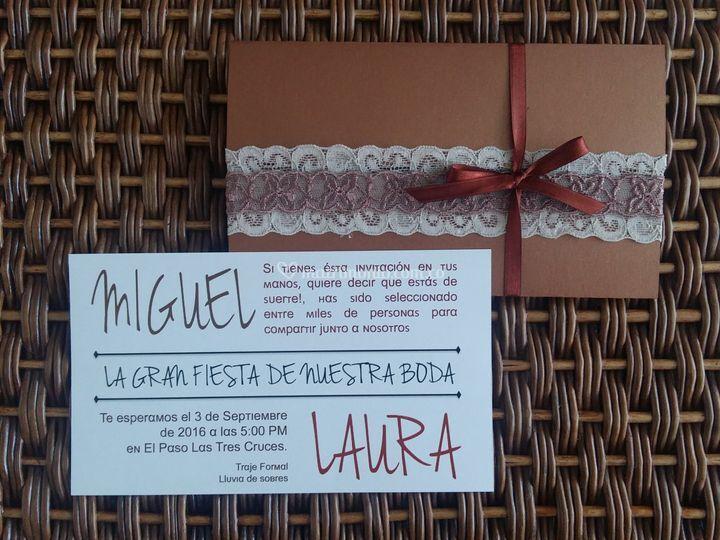 Tarjetas de invitación a Matri