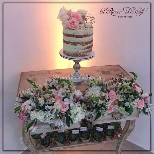Mesa para naked cake