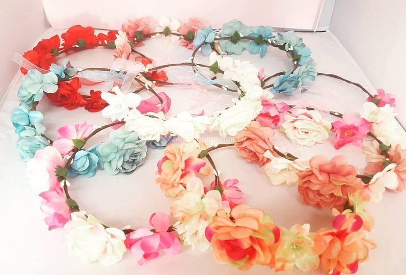 Coronas de flores grandes