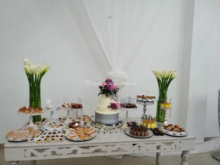 Mesa de dulce y de salado
