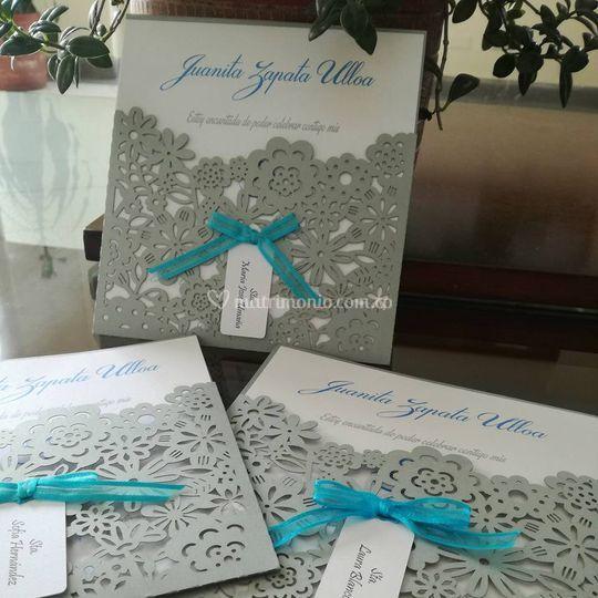 Flores invitacion boda