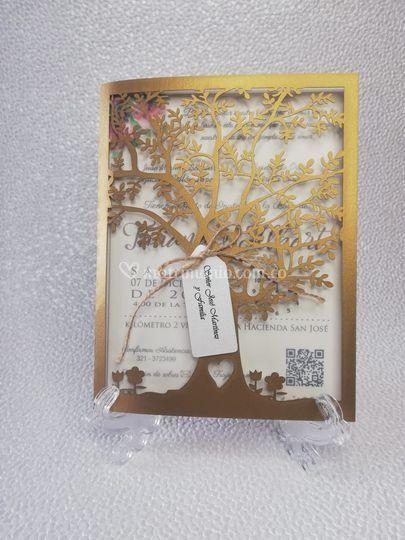 Corte laser árbol