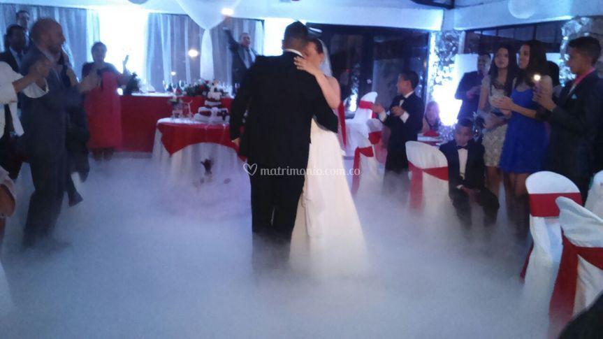 Neblina baile de los novios
