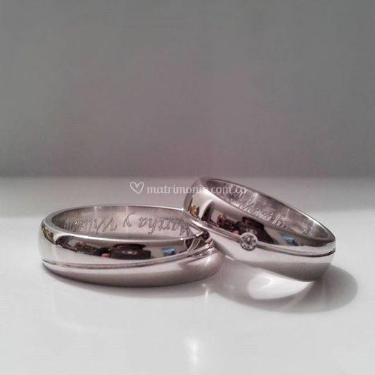 Argollas en plata