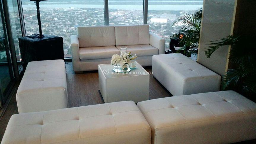 Salas lounge blanco