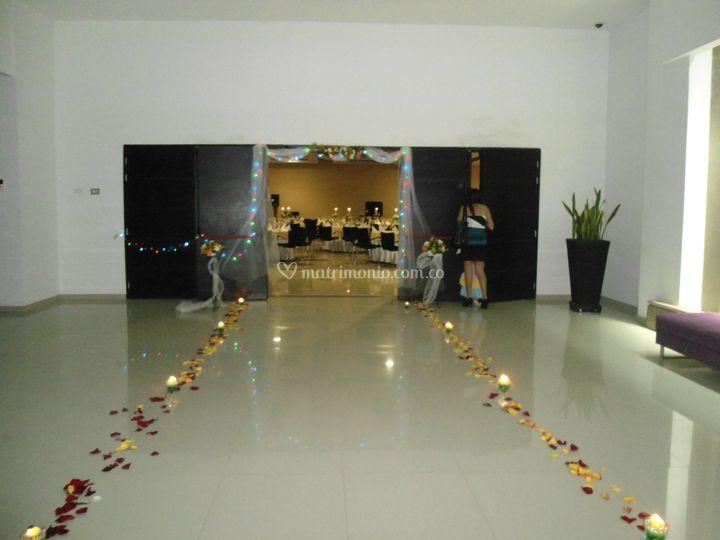 Lobby de salón de eventos