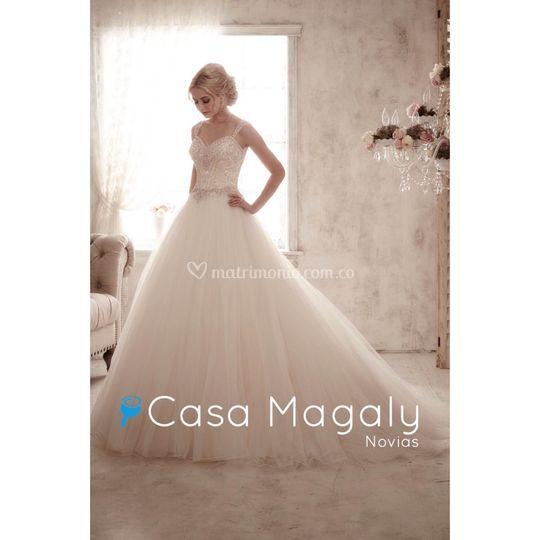 Vestido novia de Casa Magaly