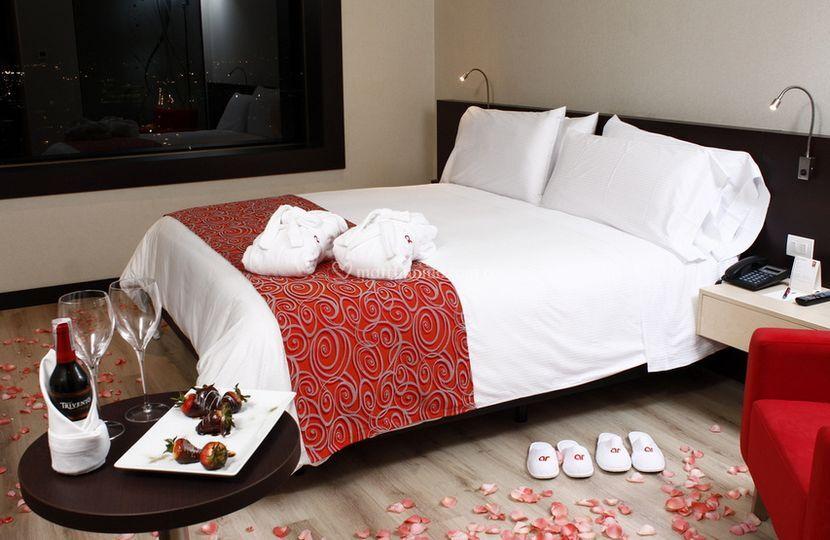 Radisson ar for Decoracion de habitacion para una noche romantica