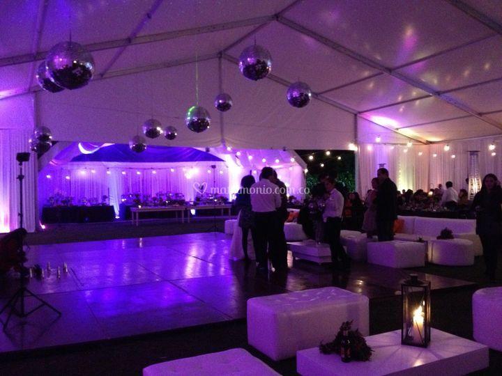 Salas lounge para pista baile