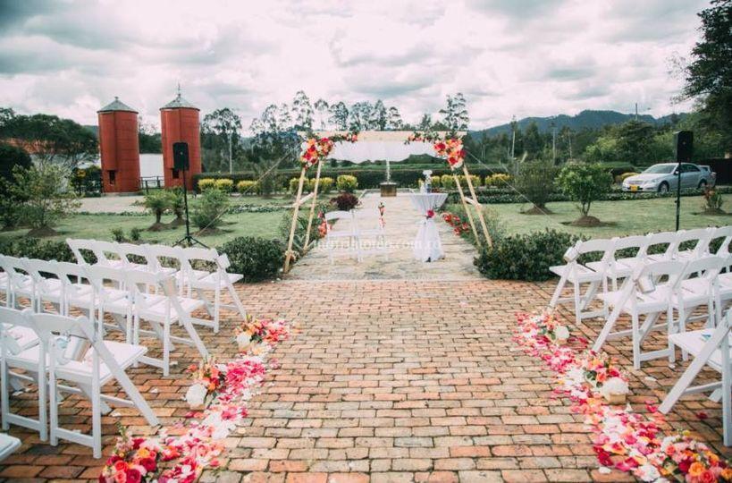 Set up ceremonia
