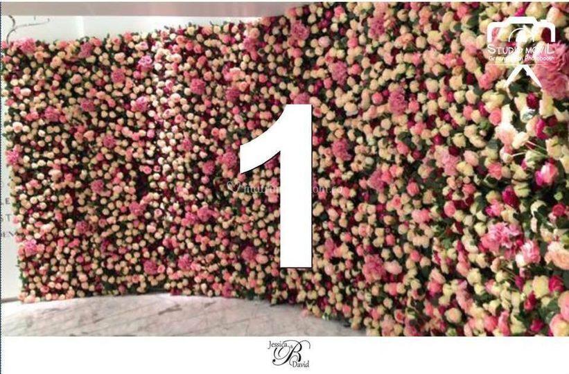 Fondo virtual rosas