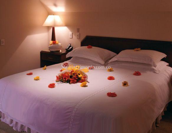 Decoracion cama boda