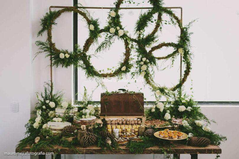 Mesa de postres- boda planes
