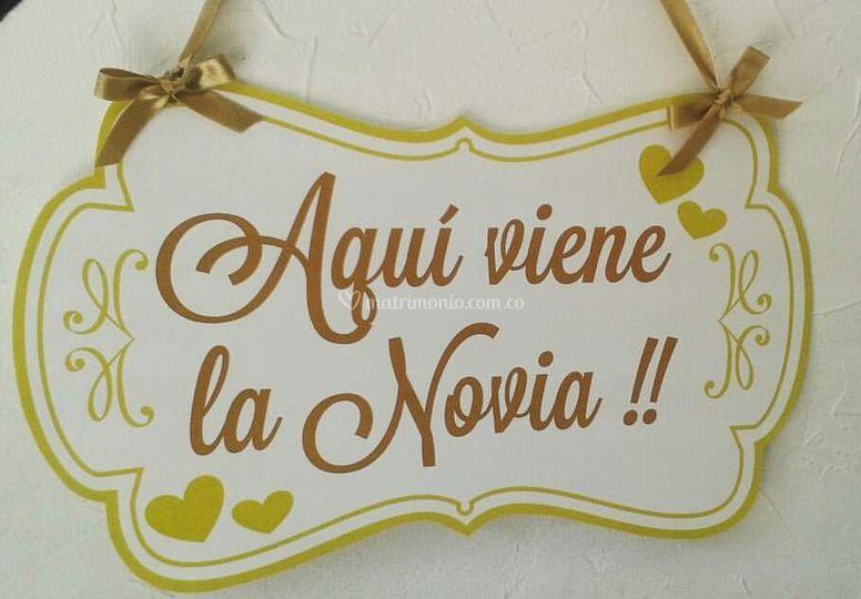 Letrero de novia