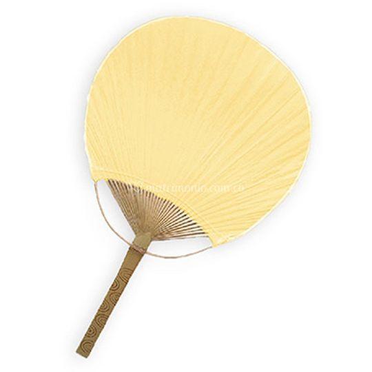 Abanico bamboo amarillo