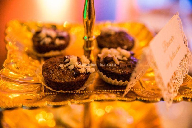 Mini Brownies con nueces