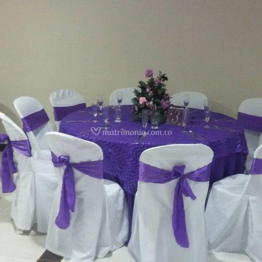 Boda violeta