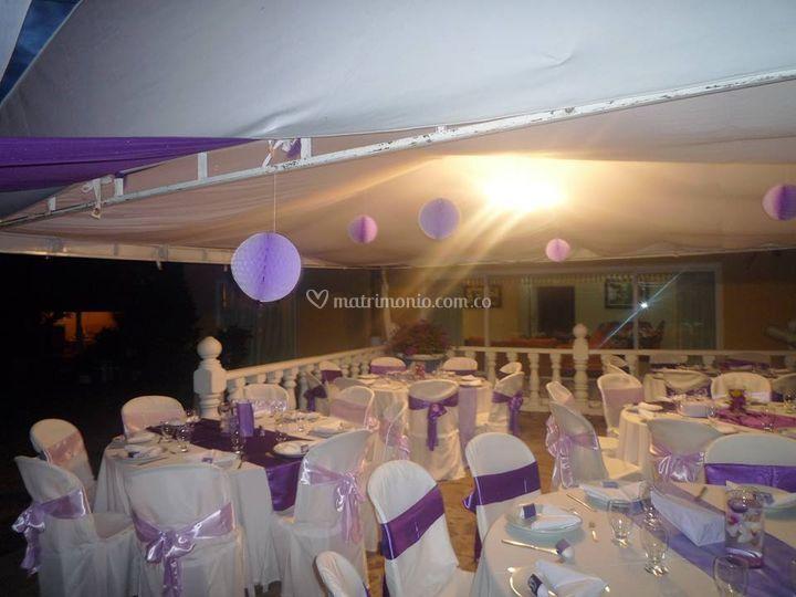 Gran salón decorado