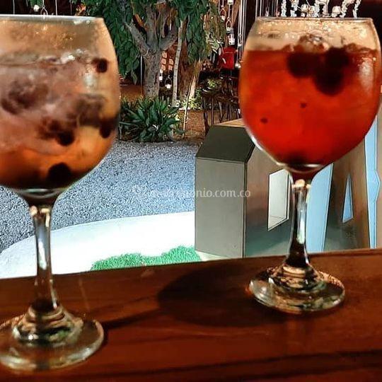 Gin tonic de frutos rojos