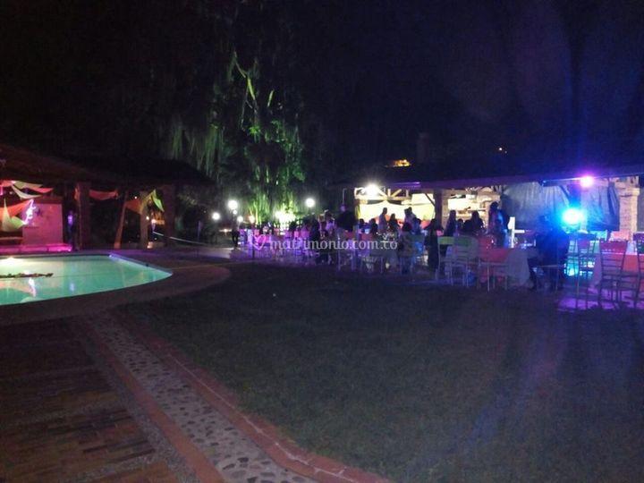 Fiesta en jardín