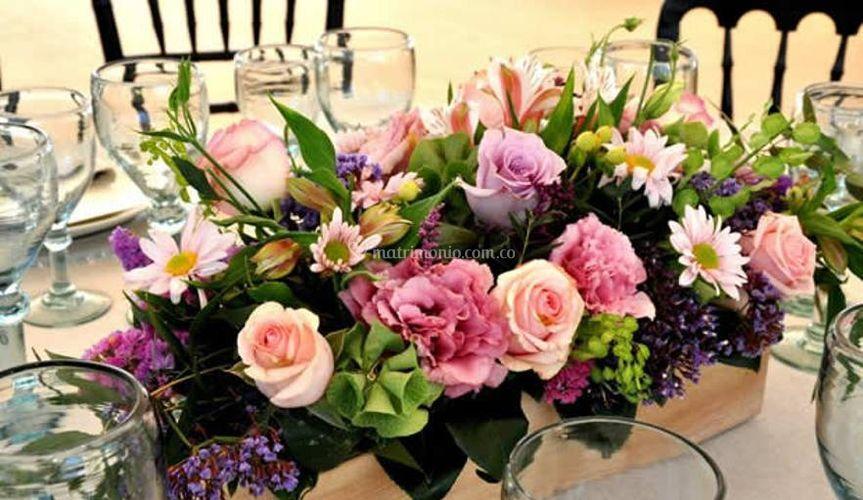 Centros de mesa flores grandes